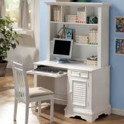white wooden desk with shelves also drawers combined with