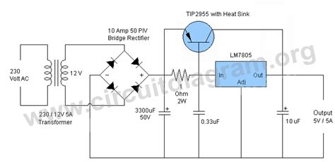 5v 12v power supply circuit diagram 5v 5a power supply circuit circuit diagram