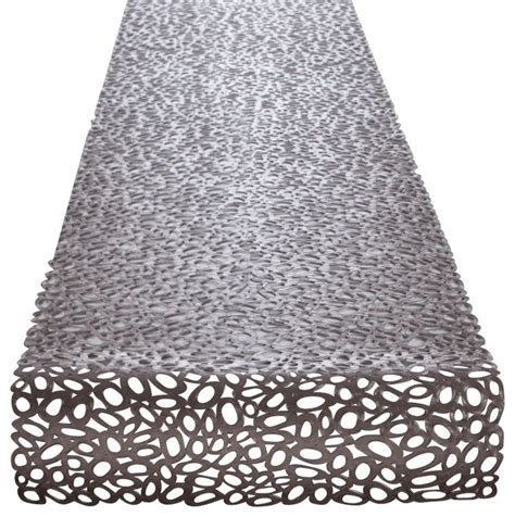 Chilewich Runner Rug Chilewich Pebble Runner Gunmetal Contemporary Table Runners By Design