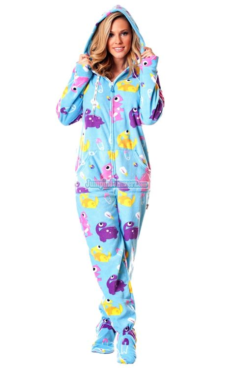 christmas footed pajamas adults