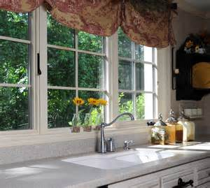 Brown Valance For Windows Ideas Brown Floral Fabric Valance Kitchen Window