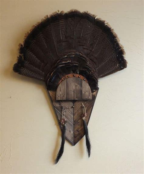 diy turkey fan mount walnut turkey fan mount
