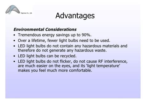 light emitting diode advantages led lighting presentation 102009