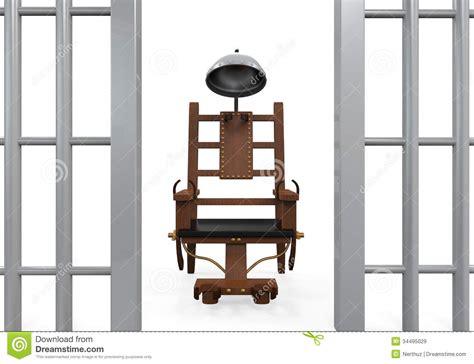 elektrischer stuhl elektrischer stuhl lokalisiert lizenzfreie stockbilder
