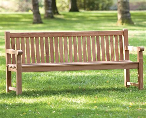 park benches uk heavy duty garden park teak bench 180cm