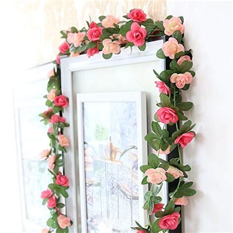 flowers for home decor garlands flowers decorations amazon com