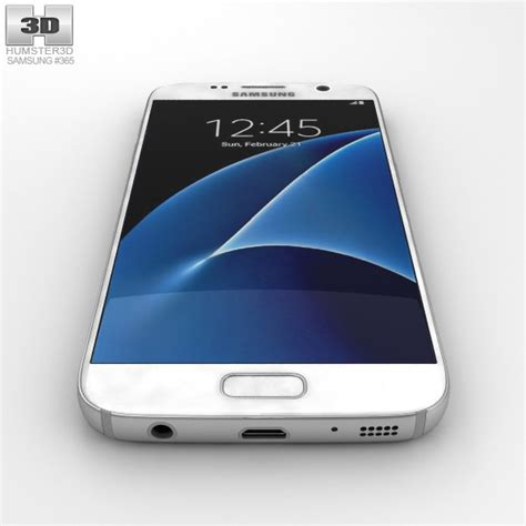 samsung white samsung galaxy s7 white 3d model humster3d