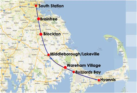is there a from boston to cape cod capeflyer schedules south station boston to