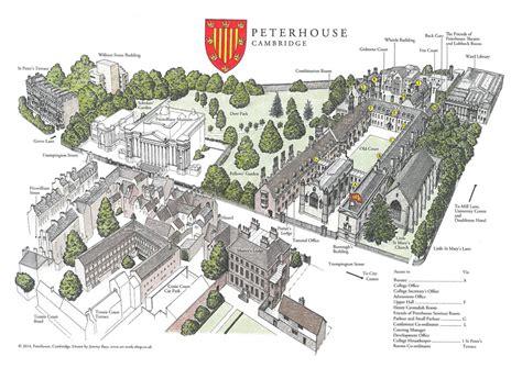 map uk cambridge map of the college peterhouse cambridge