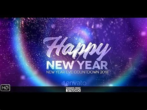 after effects template free year new year countdown 2018 after effects template official
