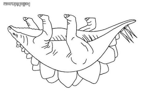 stegasaurus free coloring pages