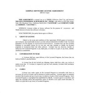 contract template software 13 license agreement templates free sle exle