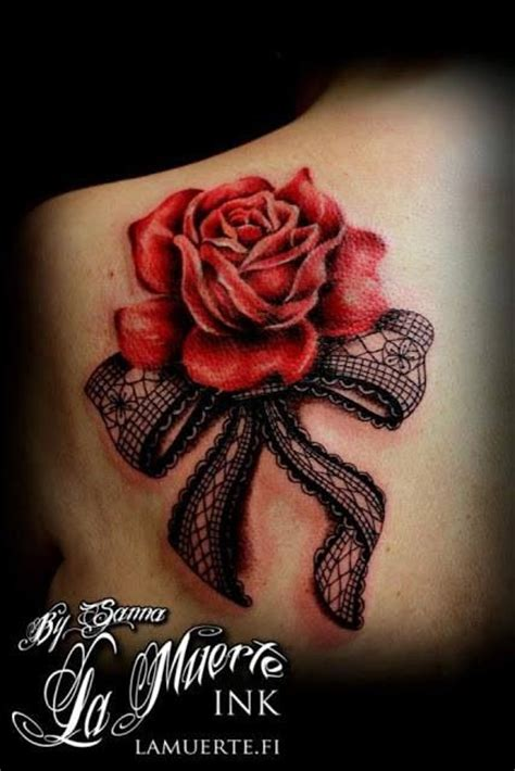 camo bow tattoo shoulder rose with black bow tattoos pinterest the