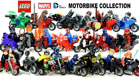 Mainan Lego Heroes Motorcycle lego 174 batman motorcycle collection marvel dc heroes