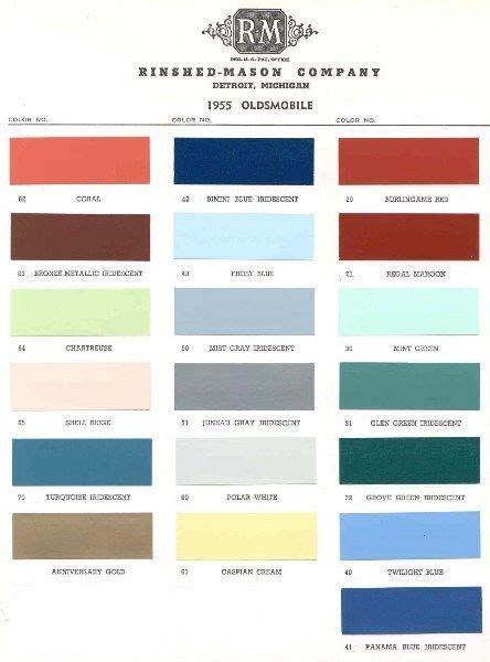 ebay colors 1955 oldsmobile paint color sle chips card colors ebay