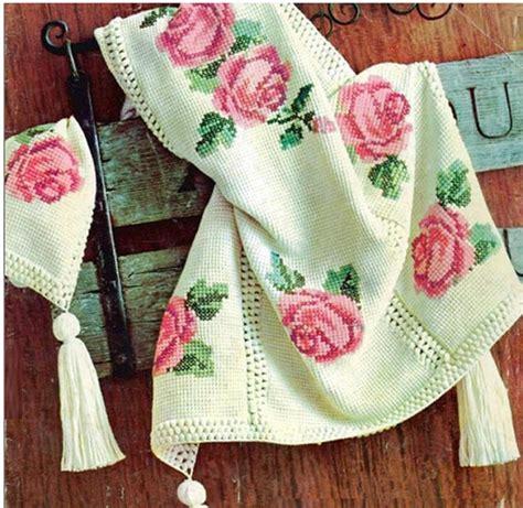 vintage afghan pattern crochet pattern vintage 70s crochet rose afghan crochet