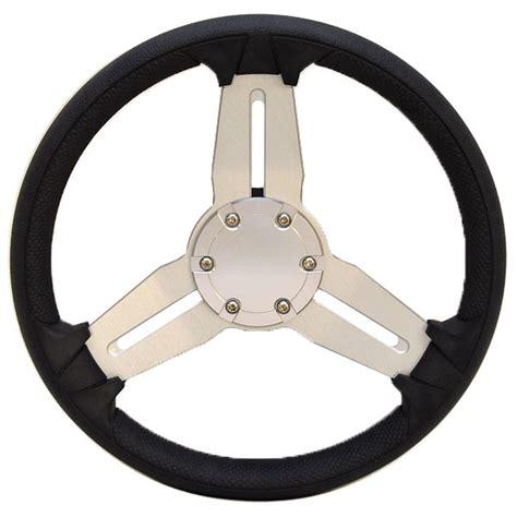 boat steering wheel uk ranger 5307013 black silver 13 3 4 inch vinyl boat