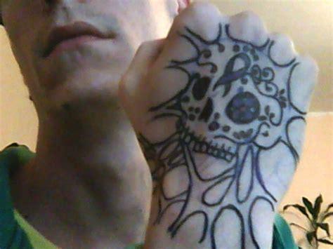 sugar skull hand tattoo 1 by chromone on deviantart