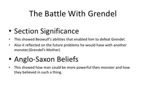 beowulf summary by section beowulf review