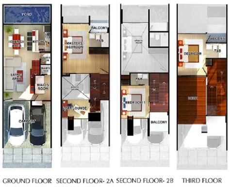 modern townhouse floor plans 3 story townhouse floor plans townhome plans mexzhouse