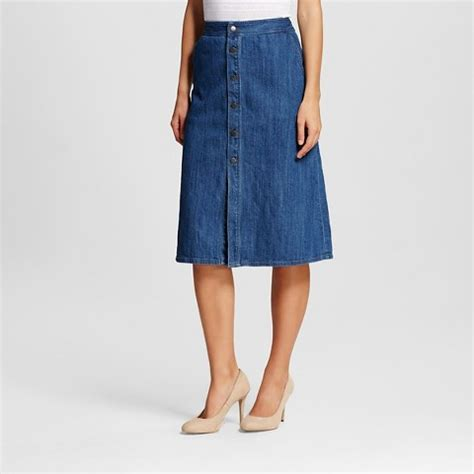 s button front skirt denim mossimo target