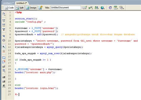 membuat form login session php cumiiadjah membuat form login logout php