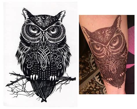 henna tattoo schwarz anleitung tempor 228 re tattoos temporary eule