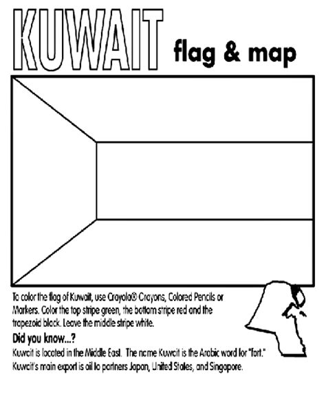 Kuwait Coloring Page Crayola Com Kuwait Flag Coloring Page