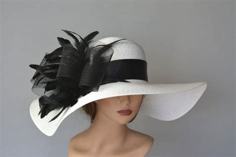 Wedding Hair And Makeup Derby by White Black Wedding Hat Kentucky Derby Hat Fascinator
