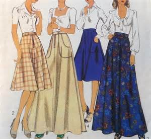 Fabric Table Skirts by 1970s Sewing Pattern Midi Skirt Maxi Skirt