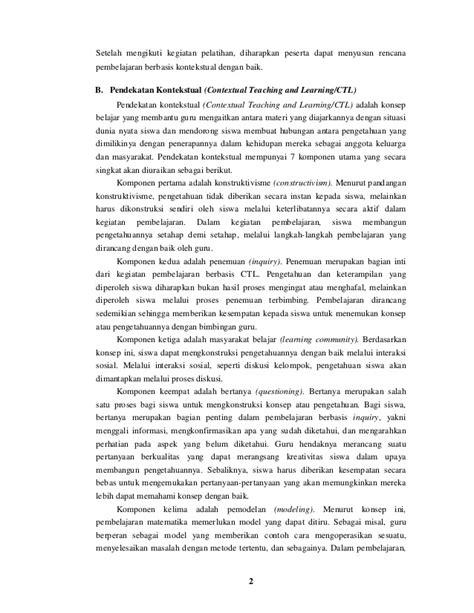 makalah membuat rpp makalah pengembangan rpp berbasis kontekstual 0