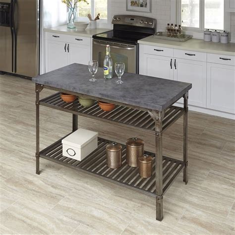 industrial style kitchen islands urban style kitchen island by home styles by home styles