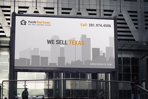 premium real estate real estate agent billboard signage