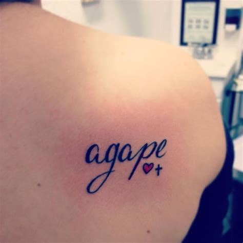my agape tattoos