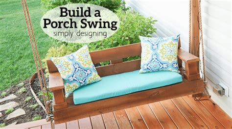 how to make swings build a porch swing