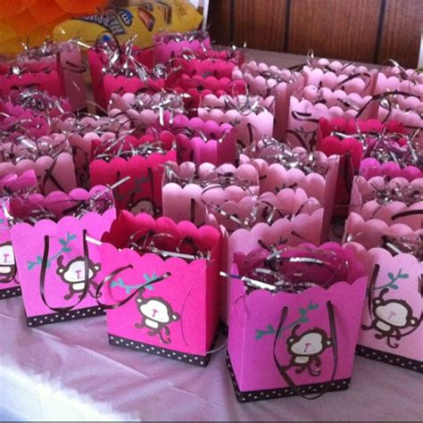 Pink Monkey Baby Shower Decorations by Pink Monkey Baby Shower Favors Monkey Baby Shower