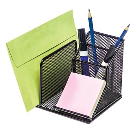 brenton studio metro mesh desk organizer black by office