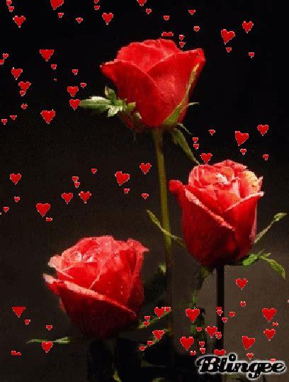 imagenes de corazones gif gif animados de amor con rosas rojas y corazones