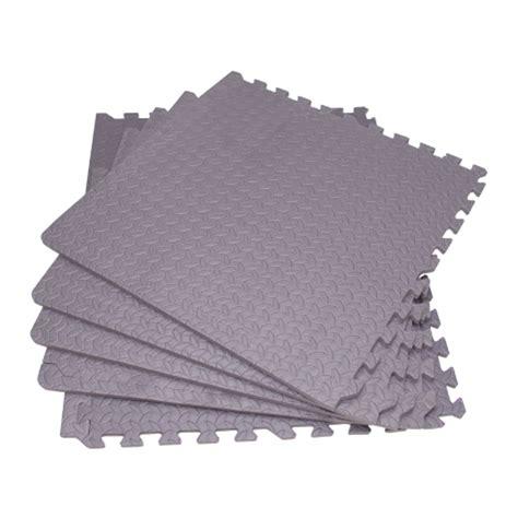 interlocking cushioned floor mats patio play area grey ebay
