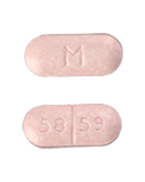 M 58 59 Pill Images (Pink / Capsule-shape) M 58 59 Pink