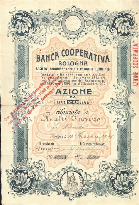 ubi bologna cooperativa bologna titolo finanziario storico