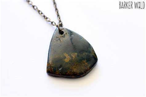 agate stones for jewelry moss agate pendant mineral rock boho