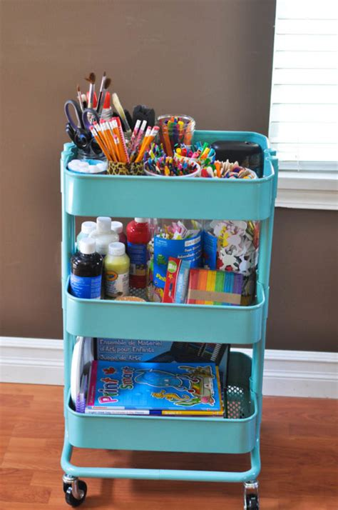 ikea craft cart the art cart suburble