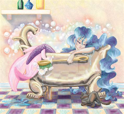 bathtub mermaid mermaid in bathtub by ladyzoragirl on deviantart