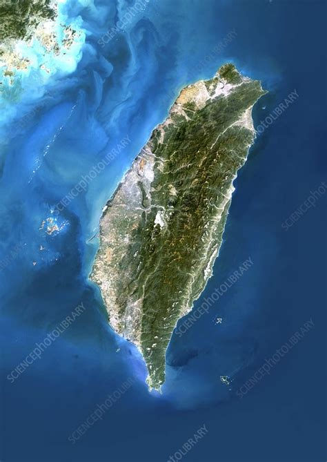 taiwan satellite image stock image  science
