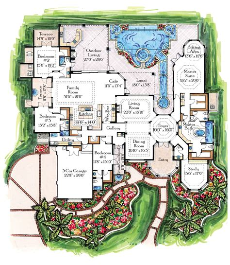 villa house plans mediterranean villa house plans 171 floor plans