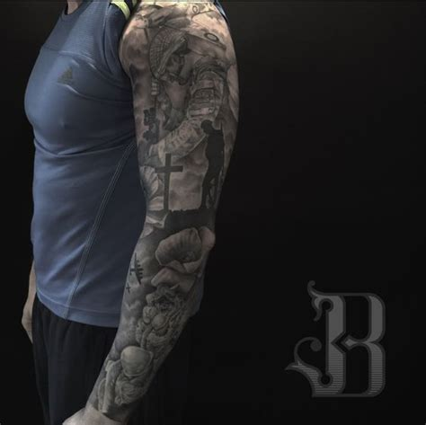 quarter sleeve military tattoo remembrance day sleeve army sleeve quoets pinterest