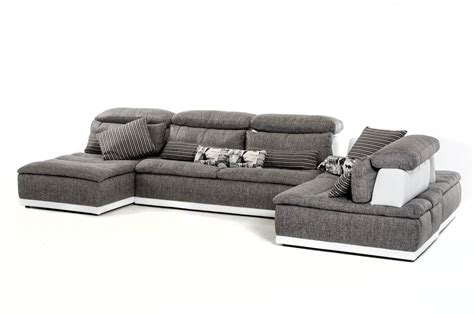 grey leather and fabric sofa made in italy grey fabric and white leather sectional sofa