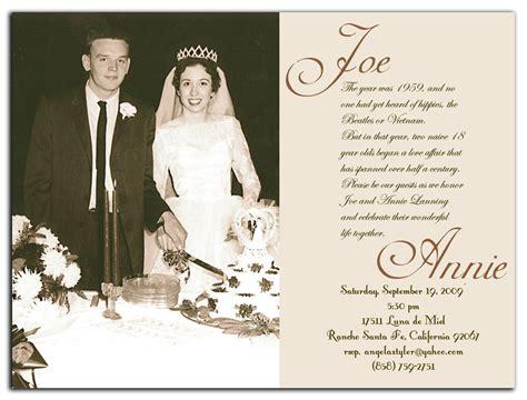 Wedding Anniversary Ideas Nj by 50th Wedding Anniversary Invitation Wording Reignnj