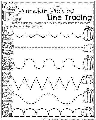 printable tracing pumpkins 218 best preschool worksheets images on pinterest